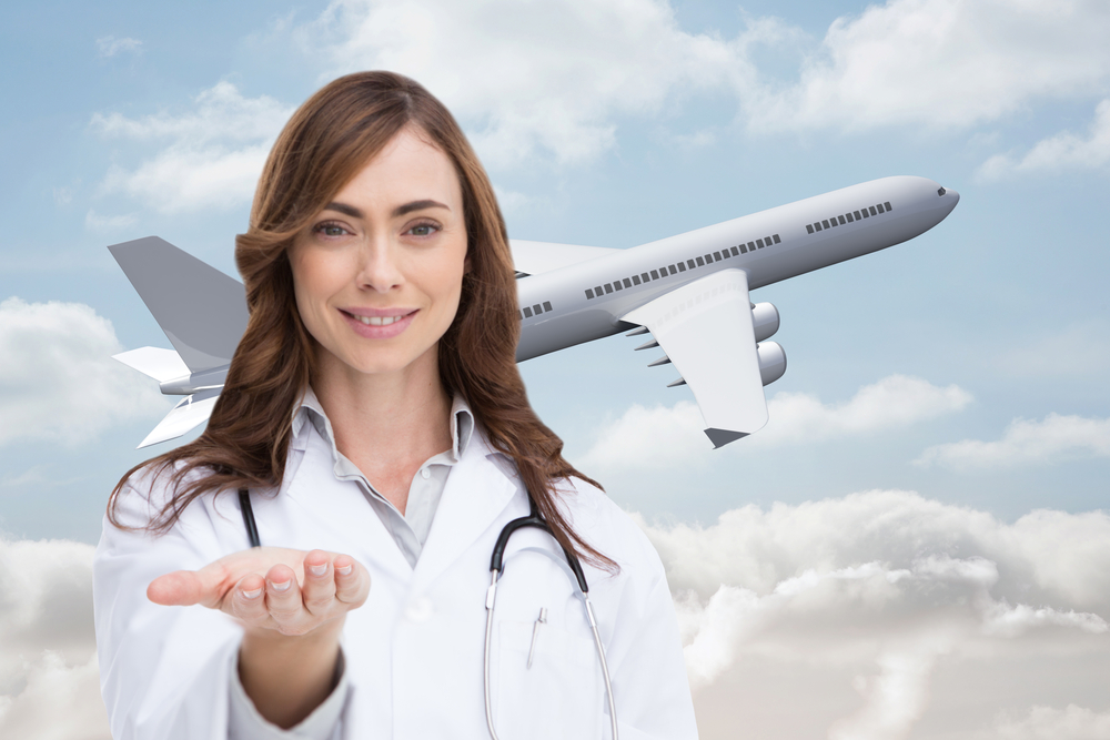 travel nurse airplane