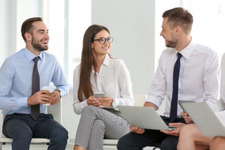 Office Workers Discussing Strategy